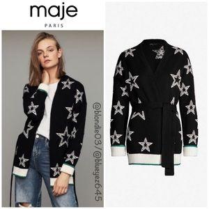 "Maje ""Meny"" Star Print belted cardigan 1 (US S)"